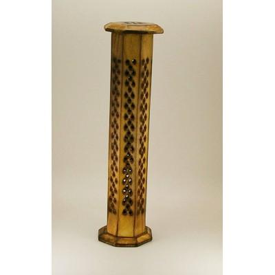 Tour porte-encens en bois