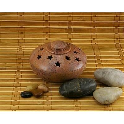 Brûleur de cônes d'encens en pierre à savon