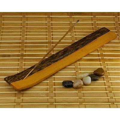 Porte-encens en bois à motif deux tons